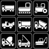 Grupo de ícones - transporte, curso, resto Fotografia de Stock Royalty Free