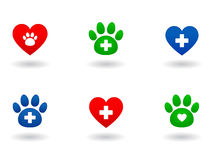 Grupo de ícones veterinários Foto de Stock Royalty Free
