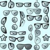 Grupo de óculos de sol em um estilo diferente Teste padrão sem emenda Fotos de Stock