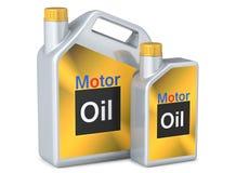 Grupo de óleo de motor dos cartuchos Imagem de Stock