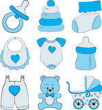Grupo de acessórios do bebê Imagem de Stock