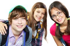 Grupo de adolescencias Imágenes de archivo libres de regalías