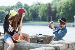 Grupo de adolescente joven Foto de archivo