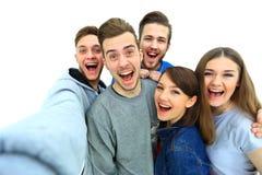Grupo de adolescente joven feliz Imágenes de archivo libres de regalías