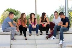Grupo de adolescentes Foto de archivo libre de regalías