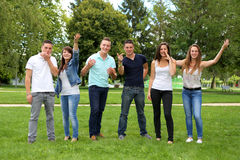 Grupo de adolescentes Fotografía de archivo