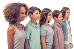 Grupo de adolescentes Fotos de archivo libres de regalías