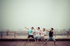 Grupo de adolescentes asiáticos que se divierten 2 Fotografía de archivo