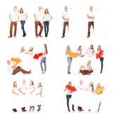 Grupo de adolescentes con una bandera blanca Fotografía de archivo
