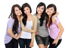 Grupo de adolescentes felices Fotografía de archivo libre de regalías