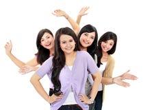 Grupo de adolescentes felices Fotos de archivo