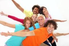 Grupo de adolescentes sonrientes Foto de archivo
