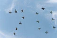 Grupo de aeroplanos Fotos de archivo