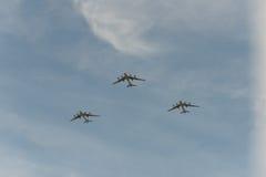 Grupo de aeroplanos rusos Imagenes de archivo