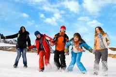 Grupo de afiliação étnica diferente dos adolescentes do esporte Foto de Stock Royalty Free