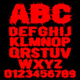 Grupo de alfabeto assustador enchido vermelho Imagem de Stock Royalty Free