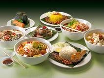 Grupo de alimento asiático Fotografia de Stock