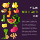 Grupo de alimento biológico com texto direito Imagem de Stock Royalty Free