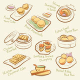 Grupo de alimento chinês. Imagens de Stock Royalty Free