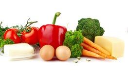 Grupo de alimentos por completo de la vitamina A foto de archivo