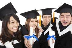 Grupo de alunos diplomados novo Foto de Stock Royalty Free