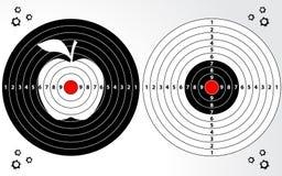 Grupo de alvo, escala de tiro, placa de dardo ilustração royalty free