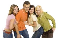 Grupo de amigos Imágenes de archivo libres de regalías