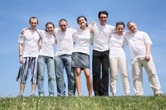 Grupo de amigos imagens de stock