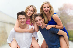Grupo de amigos Imagem de Stock