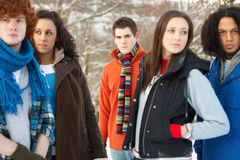 Grupo de amigos adolescentes que se divierten Fotografía de archivo libre de regalías