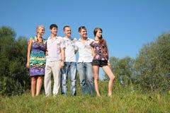 Grupo de amigos al aire libre Imagenes de archivo