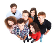 Grupo de amigos alegres felices Imagen de archivo libre de regalías