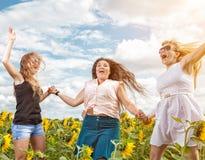 Grupo de amigos que se divierten al aire libre Foto de archivo libre de regalías