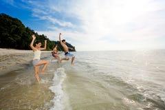 Grupo de amigos que têm o divertimento Fotografia de Stock Royalty Free