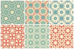 Grupo de amostras de folha abstratas do teste padrão Imagem de Stock