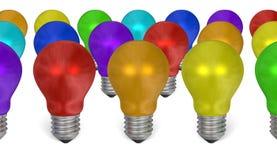Grupo de ampolas de cores diferentes ilustração do vetor