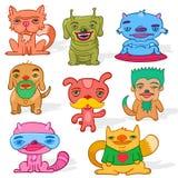 Grupo de animais de estimação estranhos Imagem de Stock Royalty Free