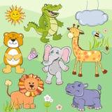 Grupo de animais dos desenhos animados Fotografia de Stock Royalty Free