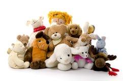 Grupo de animais enchidos fotografia de stock royalty free