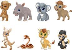 Grupo de animais engraçados das crianças ilustração royalty free