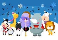 Grupo de animais que cantam Fotografia de Stock