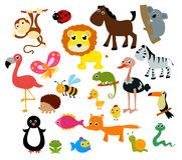 Grupo de animales ilustración del vector