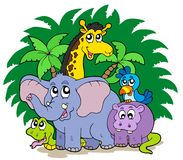 Grupo de animales africanos stock de ilustración