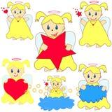 Grupo de anjos pequenos Fotografia de Stock Royalty Free