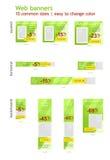 Grupo de anúncios da bandeira da Web Imagem de Stock