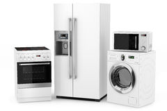 Grupo de aparatos electrodomésticos foto de archivo libre de regalías