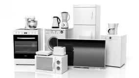 Grupo de aparatos electrodomésticos Imágenes de archivo libres de regalías