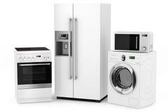 Grupo de aparelhos eletrodomésticos Foto de Stock Royalty Free