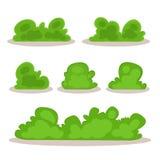 Grupo de arbustos no estilo desenhado à mão Imagens de Stock
