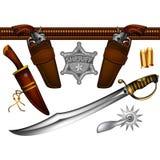 Grupo de armas dos xerifes ilustração do vetor